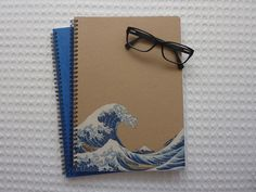 "DIY ""The great wave"" notebook"