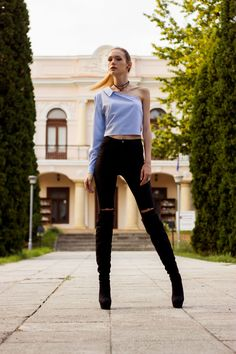 Shirt Blouses, Shirts, Fashion Bloggers, Outfit Of The Day, Leather Pants, Women's Fashion, Street Style, My Style, Board