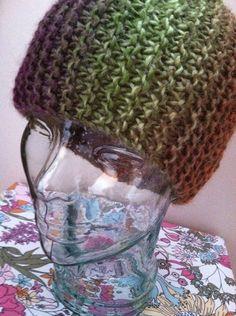 Cold Weather Brown Orange Green Purple Knit by LibertysBoutique