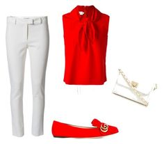 """""""red&white"""" by szilvi-srei on Polyvore featuring Altuzarra, Marques'Almeida, Gucci and Red Herring"""