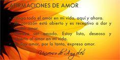 AFIRMACIONES DE AMOR  #UniversoDeAngeles