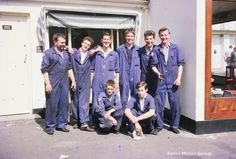 Do you recognise anyone in this photo? Falles mechanics 1960's.
