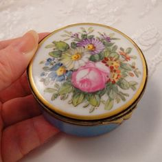 Antique Porcelain French Hand Painted Early 19th C Box