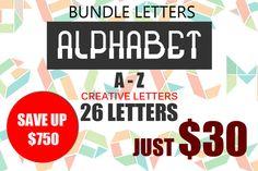 Bundle Logo Element Alphabet by Ginanto on Creative Market