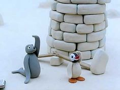 Pingu Builds a Tower
