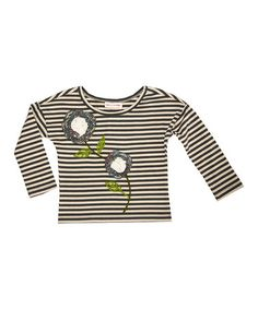 Look what I found on #zulily! Charcoal Stripe Rowing Tee - Girls #zulilyfinds