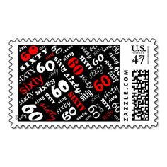 60th Birthday Party Postage Stamp
