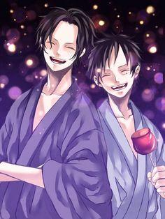Ace and Luffy Manga Anime One Piece, One Piece Fanart, Haikyuu, Ace Sabo Luffy, One Peace, One Piece Luffy, Monkey D Luffy, Nico Robin, Anime Guys