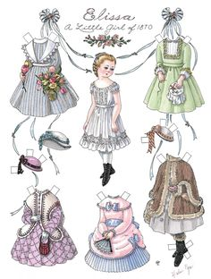 Album Archive - Antique paper dolls and paper toys to make Victorian Paper Dolls, Vintage Paper Dolls, Antique Dolls, Paper Clothes, Doll Clothes, Paper Art, Paper Crafts, Paper Dolls Printable, Dress Up Dolls