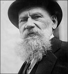 Leo Tolstoy.  Photo from restored film footage.