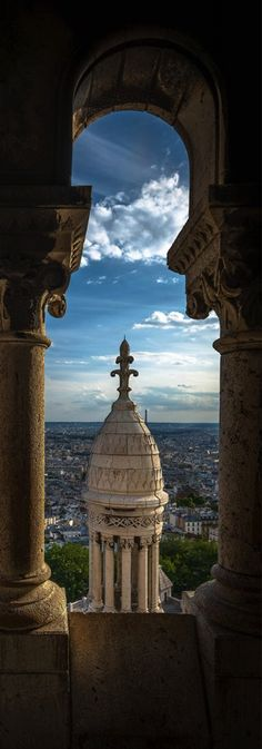 Paris from Sacre Coeur, France
