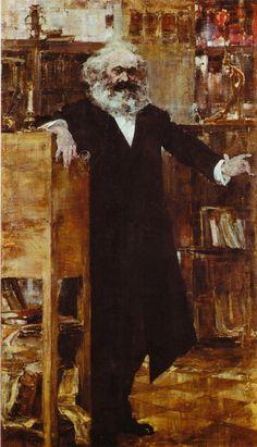 Nicolai Fechin, (1918) Portrait of Karl Marx on ArtStack #nicolai-fechin #art