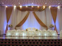 Gold wedding backdrop design done through WEDS by Mega City #wedding #decor #backdrop
