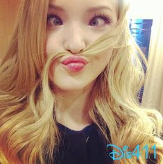 """Dove Cameron can be so silly! She used her hair as a mustache in the music video for """"Better in Stereo""""."""