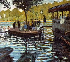 Claude Monet - La Grenouillere, 1869 at New York Metropolitan Museum of Art Listed in the book - 50 Impressionism Paintings You Should Know