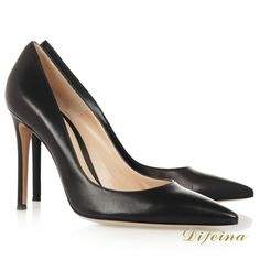Pointed Toe Woman Shoes Euramerican Style Black Cowhide Leather Dress Shoes  http://www.aliexpress.com/item/Newest-Pointed-Toe-Woman-Shoes-Euramerican-Style-Black-Cowhide-Leather-Dress-Shoes-Night-Club-Shallow-Mouth/2026470278.html