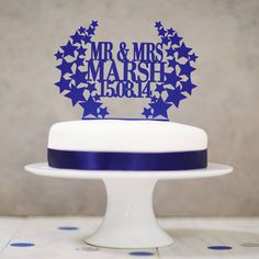 Are You Interested In Our Personalised Wedding Cake Topper With Star