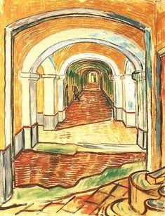 Vincent van Gogh: The Watercolours - Corridor of Saint-Paul Asylum in Saint-Rémy Saint-Rémy: September, 1889 (New York, Metropolitan Museum of Art) F 1529, JH 1808