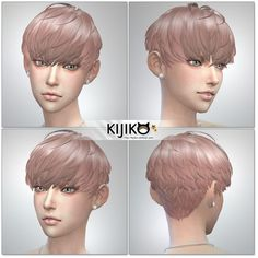 albums of the sims 4 short hair with bangs. Heavy Bangs, Long Side Bangs, Short Hair With Bangs, Girl Short Hair, Braids For Long Hair, Short Hair Cuts, Sims 4 Mods, Pixie Hairstyles, Hairstyles With Bangs