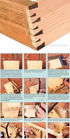 Houndstooth Dovetail Joint - Joinery Tips, Jigs and Techniques | WoodArchivist.com