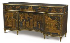 An important George III parcel-gilt Chinese black lacquer-mounted and japanned clavichord attributed to Thomas Chippendale circa 1775 | lot | Sotheby's
