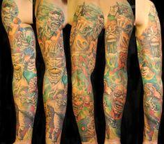 heavy metal tattoo sleeve - Поиск в Google
