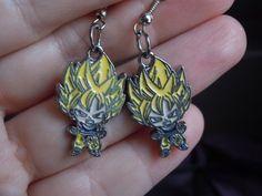 Goku Earrings Dragonball Z Super Saiyan Goku Anime by laminartz, $6.00