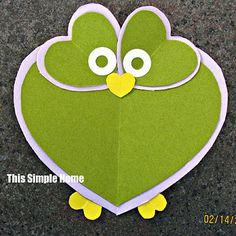Owl Valentine Craft