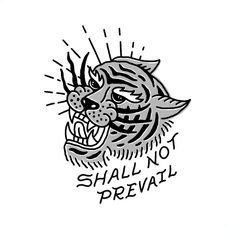 Shall Not Prevail — Efficacy Clothing Co. /// Shall Not Prevail – Handlettering and illustration design process Animal Skull Tattoos, Skull Tattoo Flowers, Animal Skulls, Maori Tattoos, Hot Tattoos, Henna Tattoos, Arm Tattoo, Sleeve Tattoos, Tattoo Hand