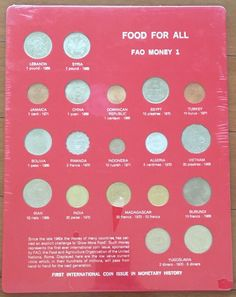 Food For All International Coin Set, 1960's-1970's. Sets 1-5