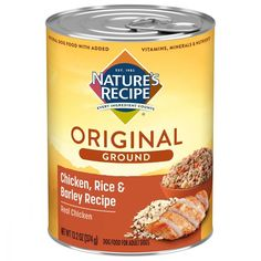 Nature's Recipe Easy to Digest Chicken Rice Barley Homestyle Ground Canned Dog Food - 13.2-oz, case of 12