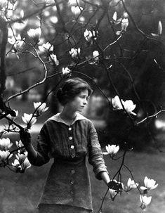 Edna St. Vincent Millay at Vassar College, 1914  Photographer: Arnold Genthe