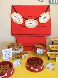 Snoopy / Peanuts Gang party. Snoopys Snack Shack.
