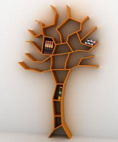 Tree bookcase designed by Roberto Corazza.
