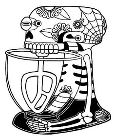 Girly Sugar Skull Coloring Pages - Bing Images Skull Coloring Pages, Colouring Pages, Printable Coloring Pages, Coloring Sheets, Adult Coloring, Coloring Books, Diy Tattoo, Sugar Skull Girl, Tattoo Ideas