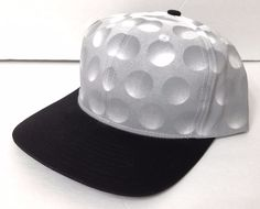 "Mens GOLF BALL HAT ""Dimple""Look Funny Humor Novelty Golfer Snapback Fathers Day #Dyot #BaseballCap"