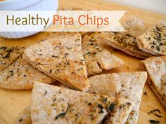 Pita chips are amazing, they are such a better thing to eat than potato chips. Check out this easy homemade pita chips recipe. You just have to figure out what to dip them in (I suggest hummus) Click the pin for the full recipe.