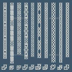 Seamless islamic ornamental borders vector image on VectorStock Islamic Motifs, Islamic Art Pattern, Arabic Pattern, Border Pattern, Pattern Art, Logo Free, Celtic Border, Motif Oriental, Frame Border Design