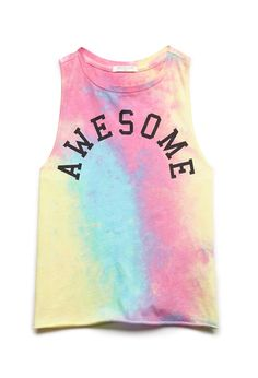 Awesome Tie-Dye Tank (Kids) | FOREVER21 #F21Girls #Juniors #GraphicTee