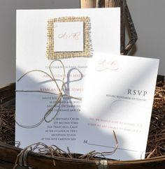 elegant wedding invitations touches of burlap