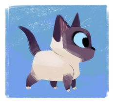 Daily Cat Drawings — Birman Kitten - Tap the link now to see all of our cool cat collections! Birman Kittens, Cats And Kittens, Animal Sketches, Animal Drawings, Cat Character, Character Design, Hippie Art, Warrior Cats, Cat Drawing