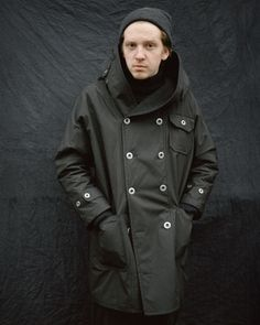Image of Fisherman Long coat in Wax Cotton £435.00