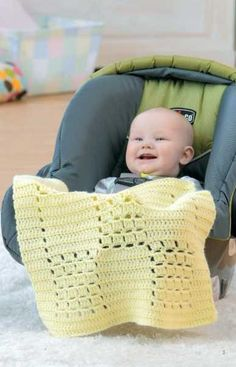 Skill Level: EasyThese little blankets are just right for keeping little legs warm when you are on the move with Baby! All the designs are easy to crochet, a nd