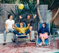The Beatles on vacation in Bel Air, California, August 1964.