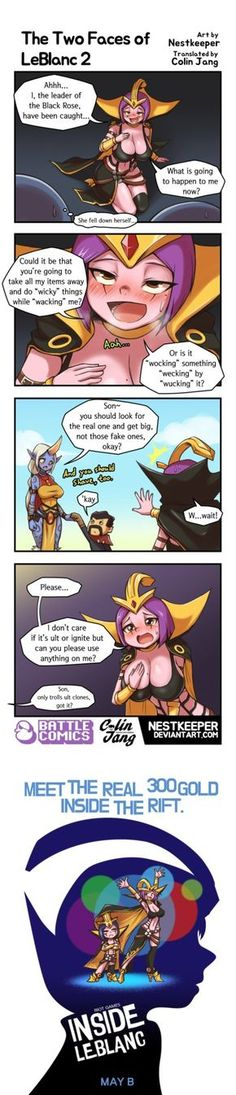 [19GoldLoL] The Two Faces of LeBlanc 2 by Nestkeeper.deviantart.com on @DeviantArt