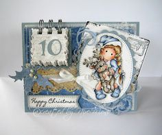 Nixe07 - Moni´s creative place: Adventskalenderkarte ... Advent Calendar Card