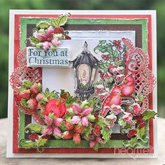 Holly Lamp card made w/ Festive Holly collection from #HeartfeltCreations #Christmas