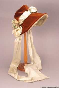 Bonnet, Henry Ford Costume Collection More 1880s Fashion, Victorian Fashion, Vintage Fashion, Historical Costume, Historical Clothing, Vintage Dresses, Vintage Outfits, Vintage Hats