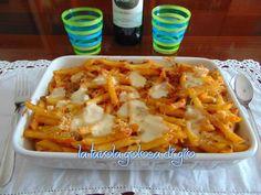 Pasta al forno con pomodorini e piselli | La tavola golosa di Giò
