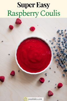 How to make fancy and super easy raspberry coulis. This is a simple recipe for the raspberry sauce, which is meant to create the same results as you get in a fancy restaurant. Learn how to make raspberry coulis. #coulis #raspberry #easy #recipe Raspberry Sauce, Best Vegan Recipes, Other Recipes, Coulis Recipe, Desserts Menu, Juicy Fruit, Easy Bread, Vegan Snacks